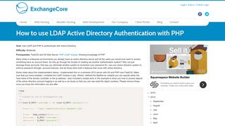How to use LDAP Active Directory Authentication with PHP ...