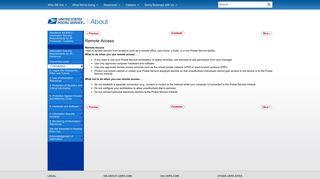 Remote Access - USPS.com