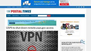 USPS to shut down remote.usps.gov access – Postal Times