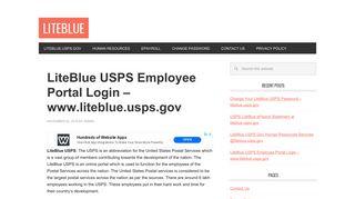 LiteBlue USPS Employee Login Portal Online– www.liteblue.usps.gov