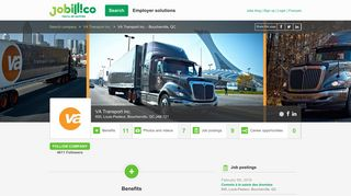 Jobs | VA Transport inc. | Corporate profile | jobillico.com