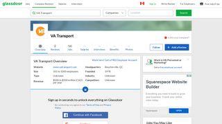 Working at VA Transport | Glassdoor.ca