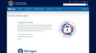 Get Your Secure Logon   VA Mobile