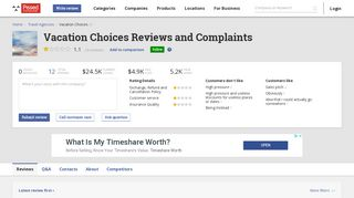 12 Vacation Choices Reviews and Complaints @ Pissed Consumer