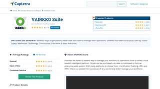 VAIRKKO Suite Reviews and Pricing - 2019 - Capterra