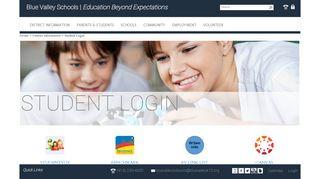 Student Login - Blue Valley Schools