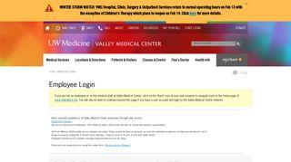 Valley Medical Center | Employee Login