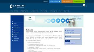 Patient Portal - Catalyst Medical Group