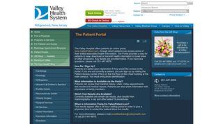Patient Portal - Valley Health System - Valley Hospital