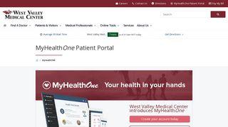 MyHealthONE Patient Portal | West Valley Medical Center