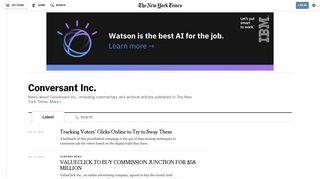 Conversant Inc. - The New York Times