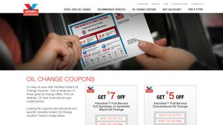Oil Change Coupons - Valvoline Instant Oil Change
