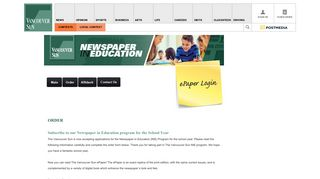 Newspaper in Education program | The Vancouver Sun - Contests