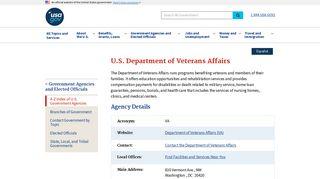 US Department of Veterans Affairs - USA.gov