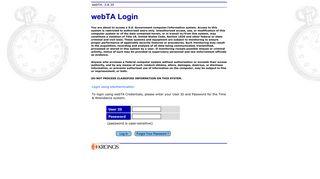 webTA: Login: com.threeis.webta.P110login