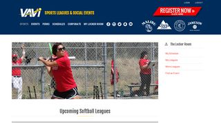 San Diego Softball Leagues | VAVi Softball - VAVi Sport & Social Club