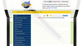Accept Checks By Phone, Checks By Fax, Checks Online - Vcheck