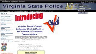 VCheck - Virginia State Police