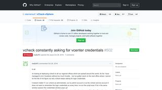vcheck constantly asking for vcenter credentials · Issue #502 ... - GitHub