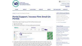 Access Firm Email (in Portal) - Virtual Enterprises International