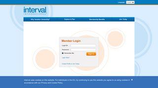 Member Login Page - Interval International