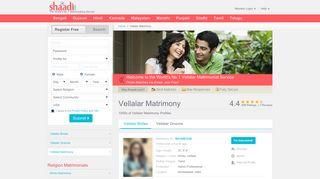 Vellalar Matrimonials - No 1 Site for Vellalar Matrimony ... - Shaadi.com