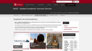 Academic Accommodations   SASS - Student Academic Success ...