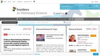 Frontiers in Veterinary Science