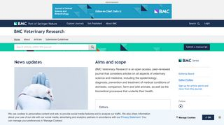 BMC Veterinary Research | Home page