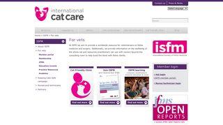 For vets | International Cat Care