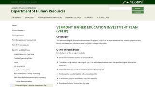 Vermont Higher Education Investment Plan (VHEIP) | Department of ...