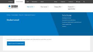 Student email | Victoria University | Melbourne Australia