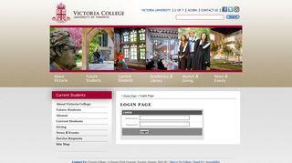 Login Page - Victoria College - University of Toronto