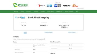 Victoria Teachers Mutual Bank Everyday   Bank account product ...