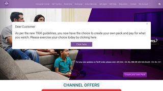 A-La-Carte DTH Channels | d2h DTH Service