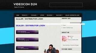 VIDEOCON D2H: Dealer / Distributor login