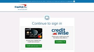 Sign in - Capital One