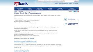Online Credit Card Account Access | U.S. Bank