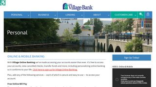 Online & Mobile Banking - The Village Bank