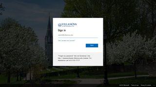 Villanova Single Sign On