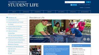 Residence Life | Villanova University