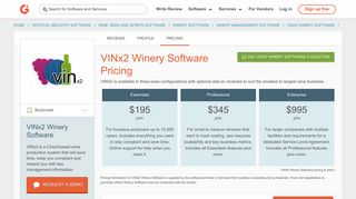 VINx2 Winery Software Pricing 2019 | G2 Crowd
