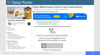How to Login to the Virgin-Media Super-Hub-2 - SetupRouter