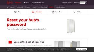 Reset your Hub's Password   Virgin Media Ireland