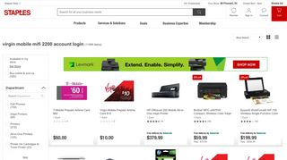 virgin mobile mifi 2200 account login - Staples