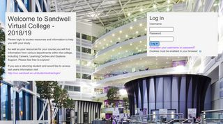Sandwell Virtual College: Log in to the site