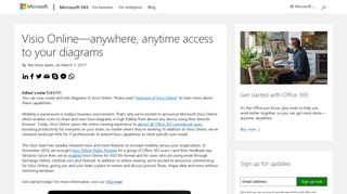 Visio Online—anywhere, anytime access to your diagrams - Microsoft ...