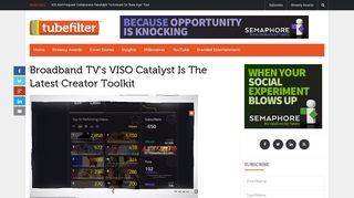 Broadband TV's VISO Catalyst Is The Latest Creator Toolkit