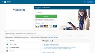 Vistaprint: Login, Bill Pay, Customer Service and Care Sign-In - Doxo