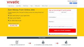 Vivatic: Earn Money From Online Jobs
